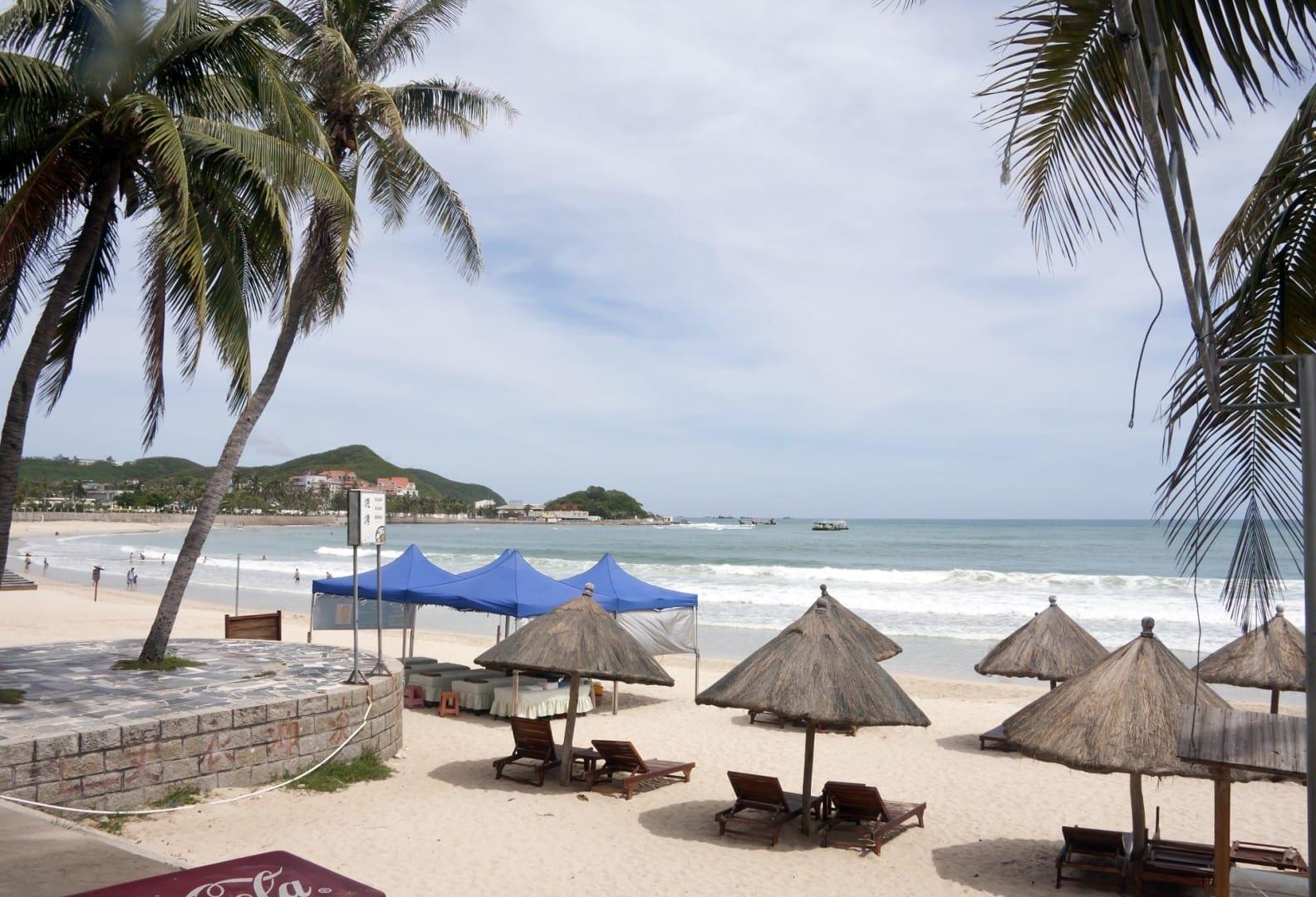 La playa de Dadonghai Sanya China