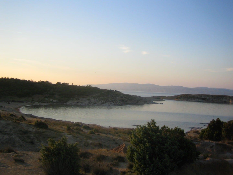 La playa de Lopar Isla Rab Croacia
