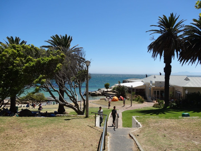 La playa de Seaforth Simons Town República de Sudáfrica