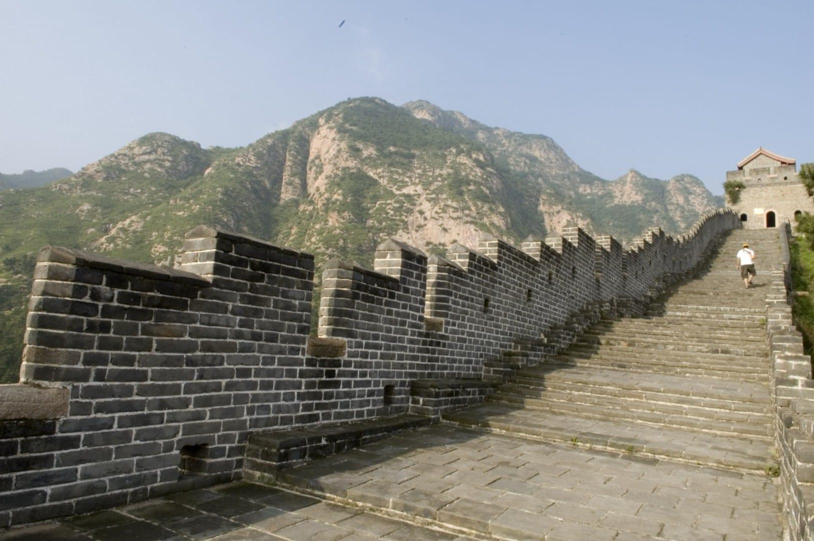 La porción de la Gran Muralla de Qinhuangdao Qinhuangdao China