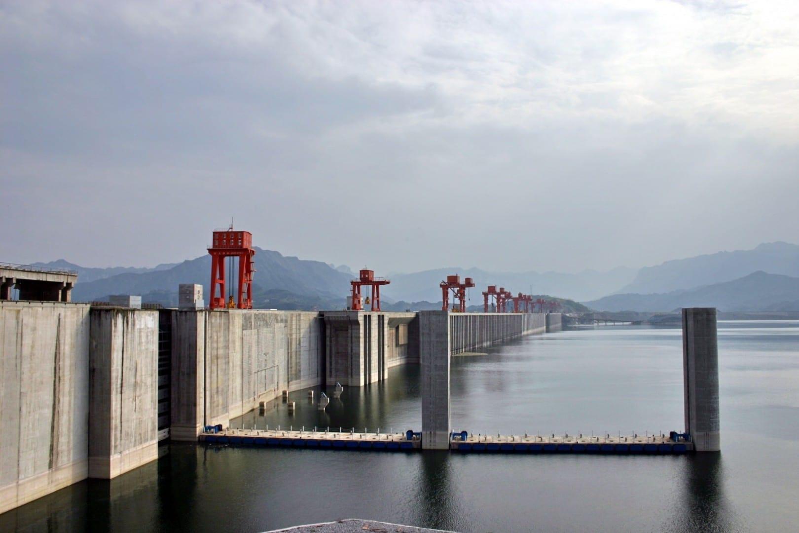 La presa de las Tres Gargantas Yichang China