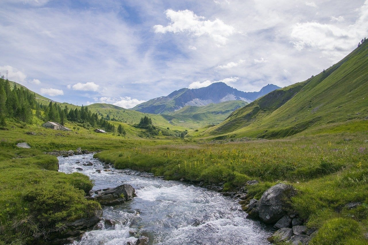 La Thuile El Valle De Aosta Alpes Italia