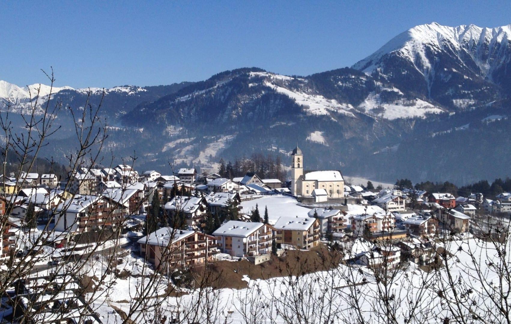 Laax Village en el invierno Laax Suiza