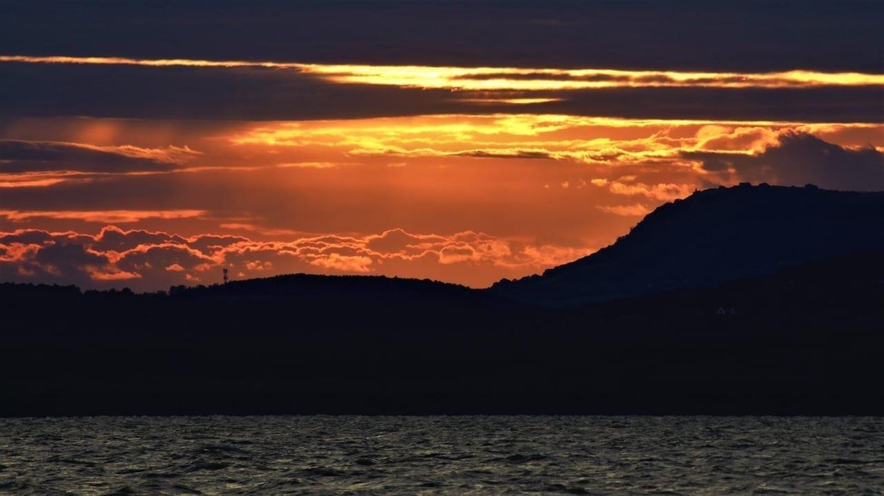 Lago Balaton Sunrise Luz Del Sol Hungría