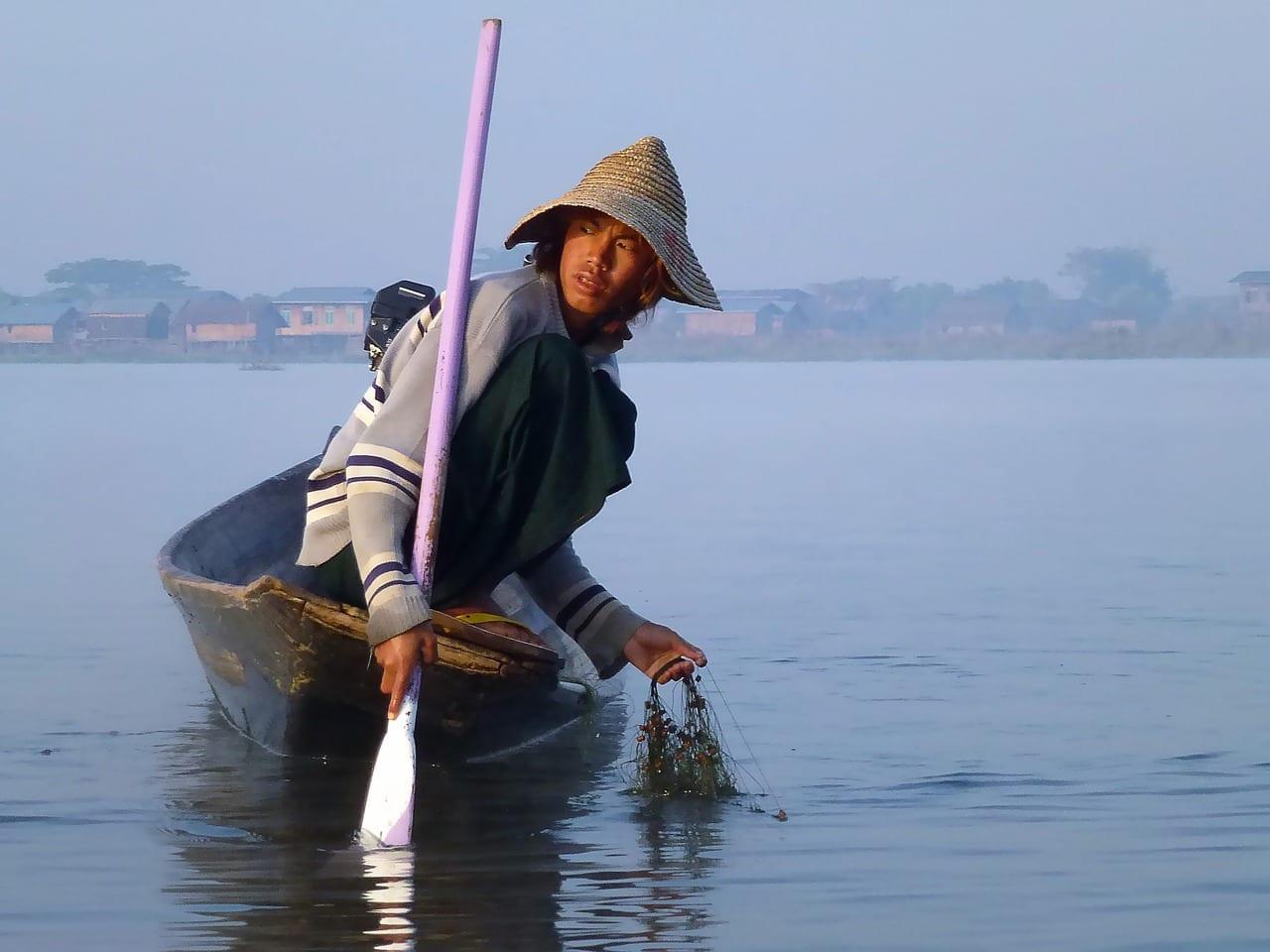 Lago Inle Birmania Pescadores Myanmar