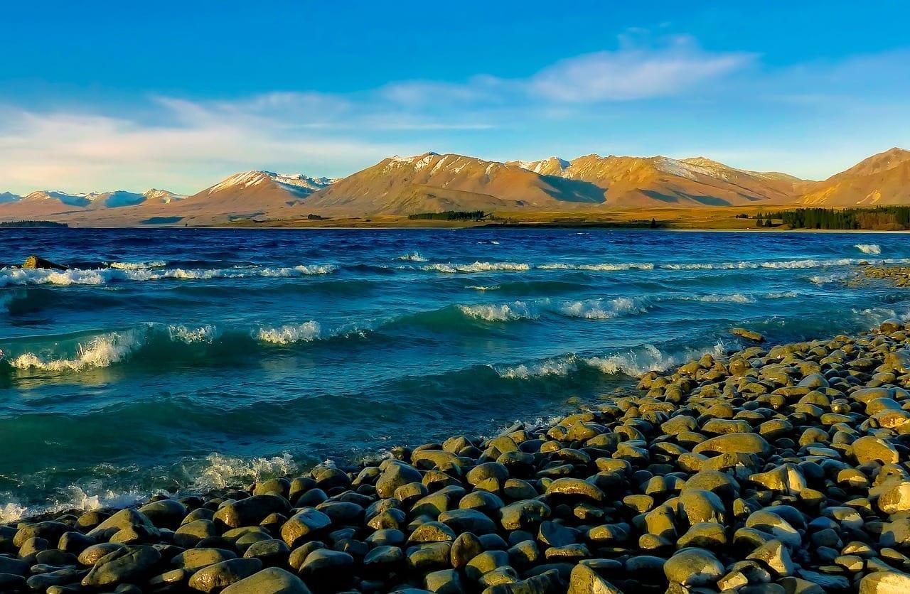 Lago Tékapo Nueva Zelanda Montañas Nueva Zelanda