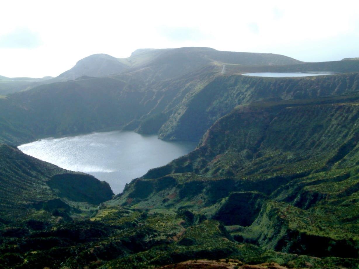 Lagoa Funda y Lagoa Rasa Isla Flores, Azores Portugal