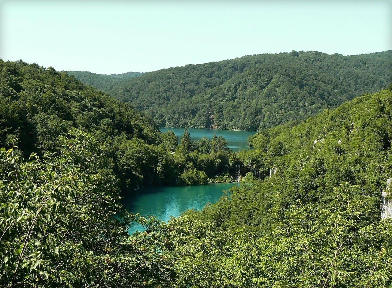 Lagos De Plitvice Croacia Pacífica Croacia
