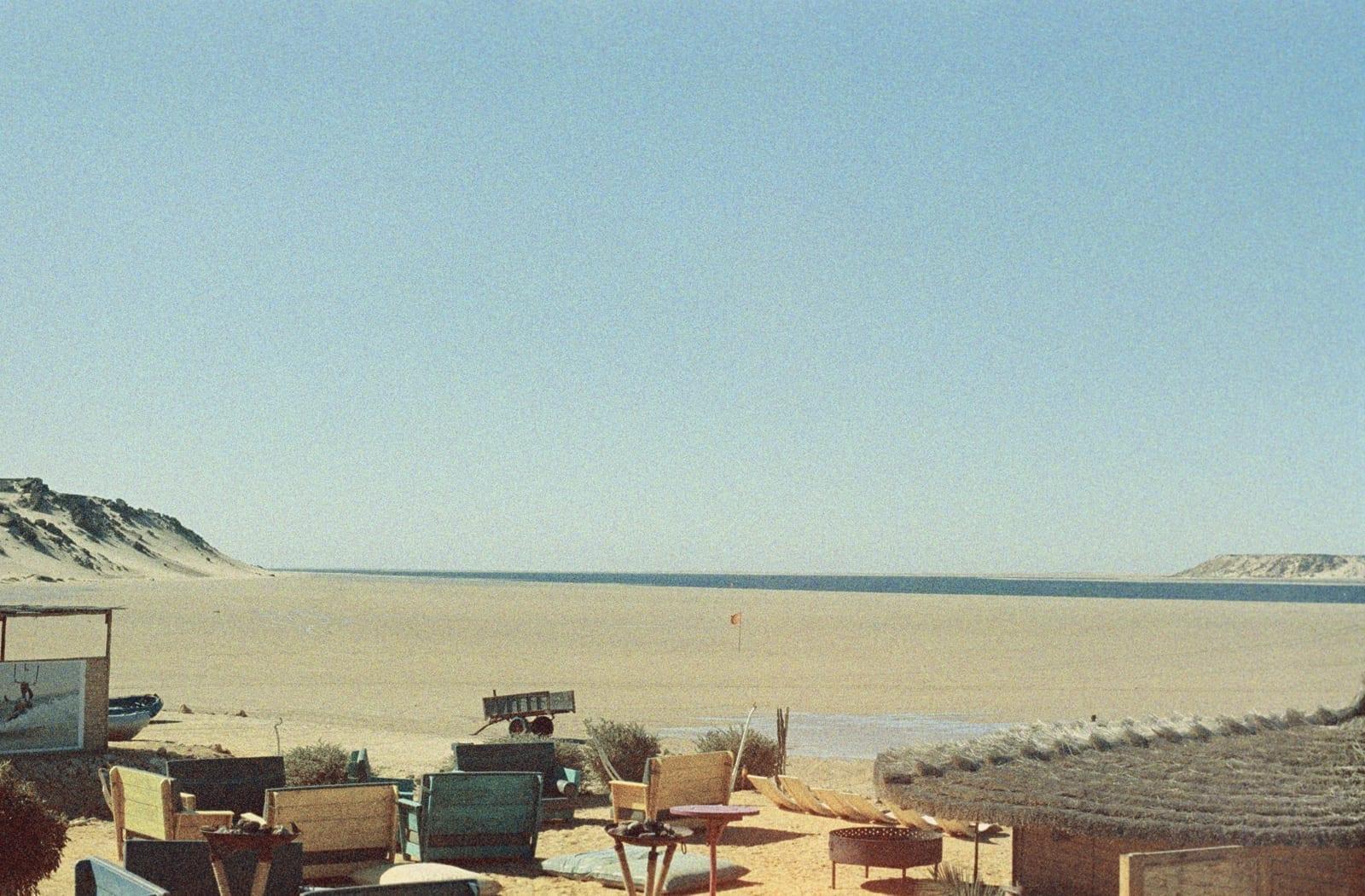 Laguna Ad-Dakhla (marea baja). Dajla Marruecos