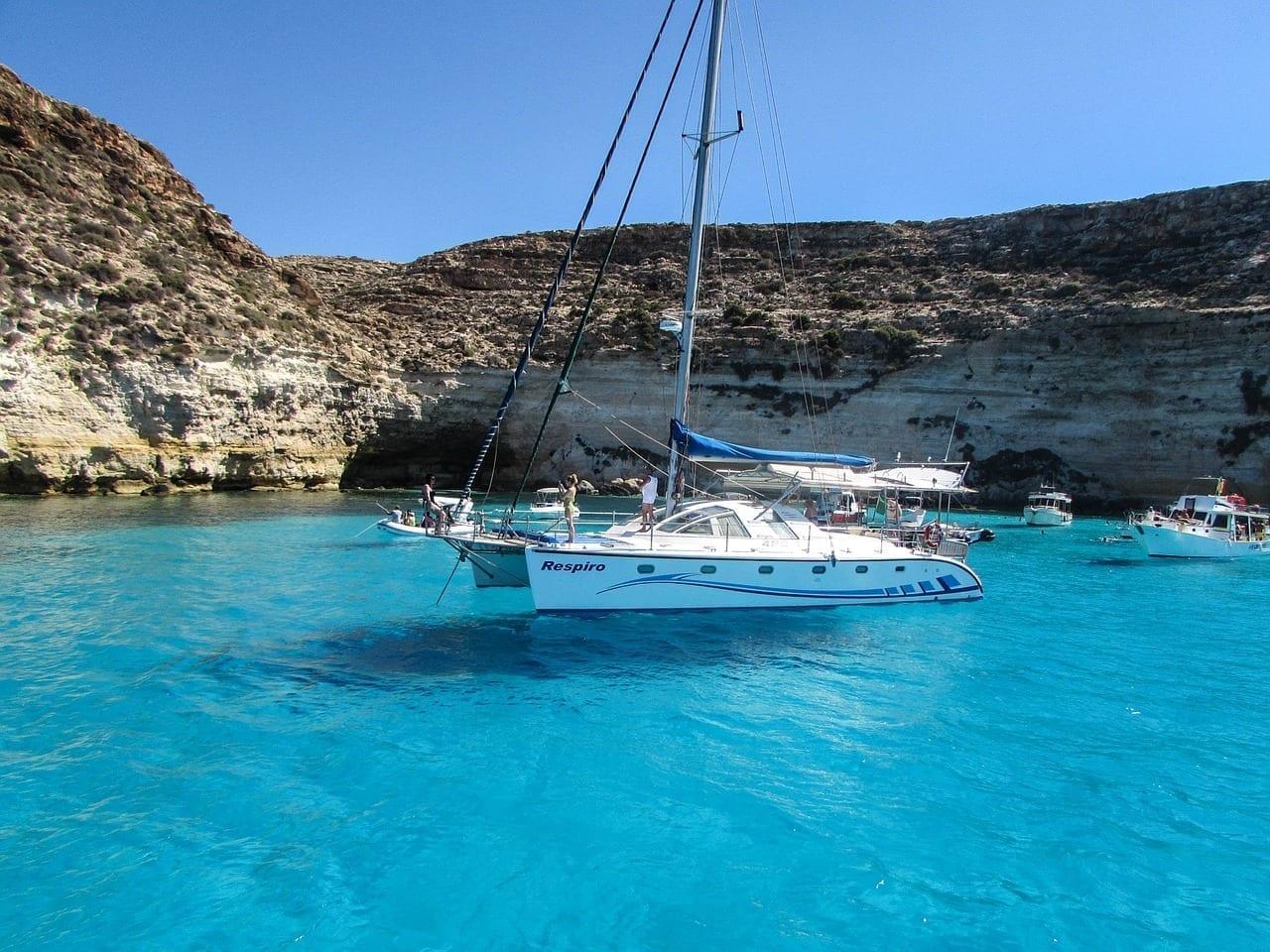 Lampedusa Mar Barco Italia