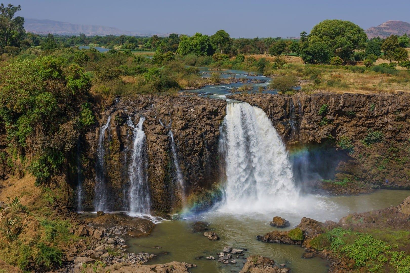 Las cataratas del Nilo Azul Bahir Dar Etiopía