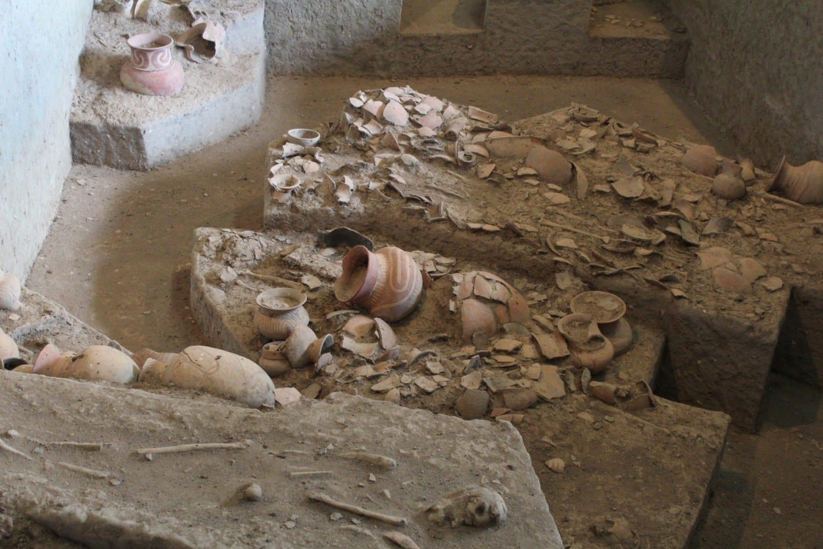 Las excavaciones en Ban Chiang Udon Thani Tailandia