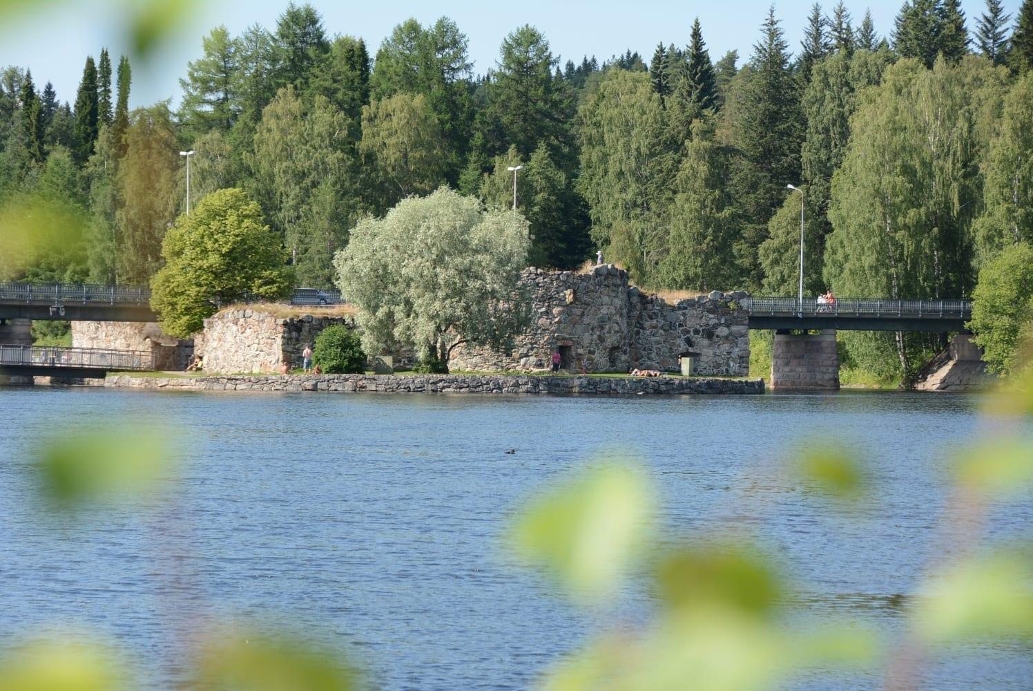 Las ruinas del castillo de Kajaani. Kajaani Finlandia