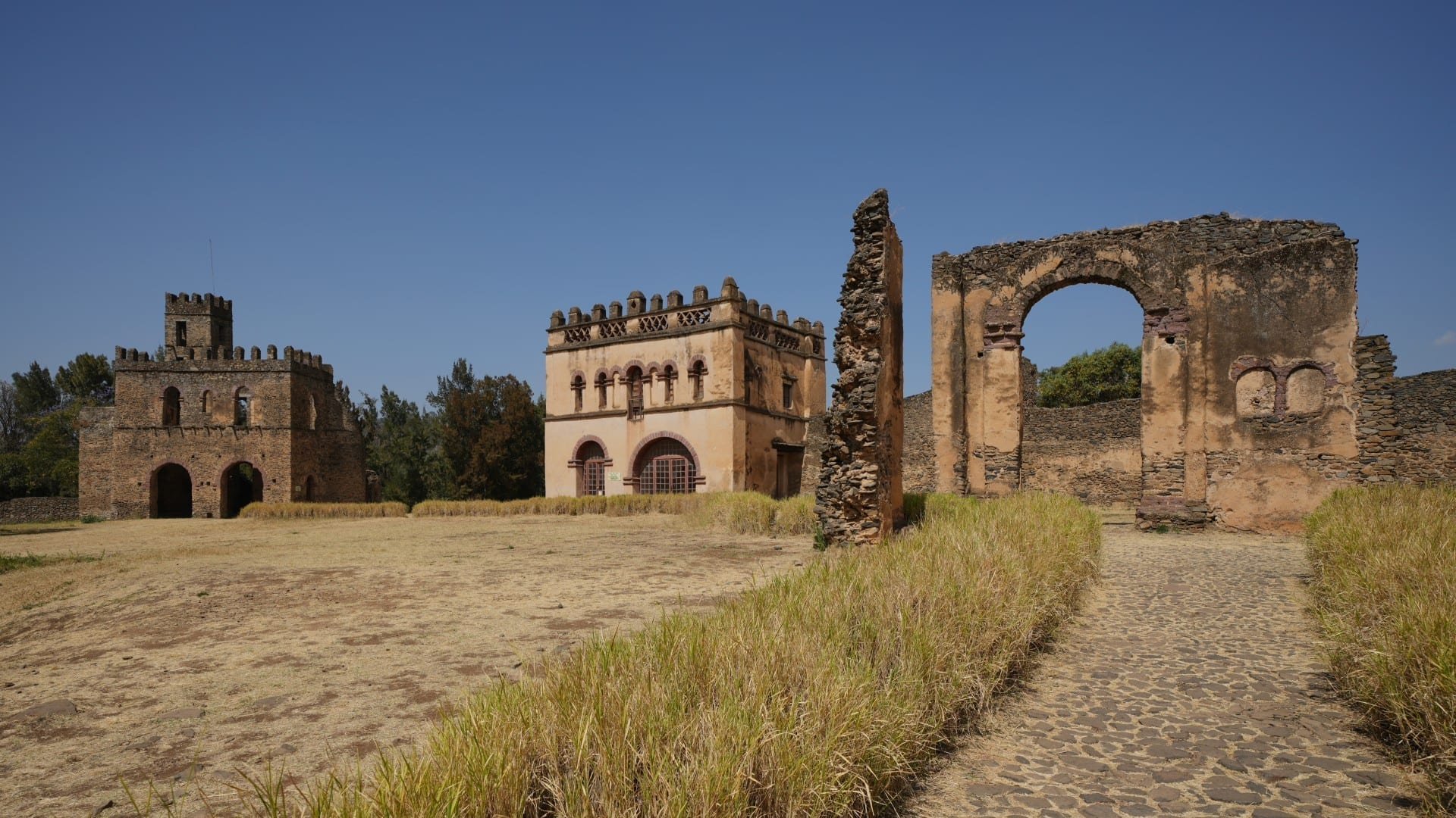 Los castillos reales de Gondar del siglo XVII Gonder Etiopía