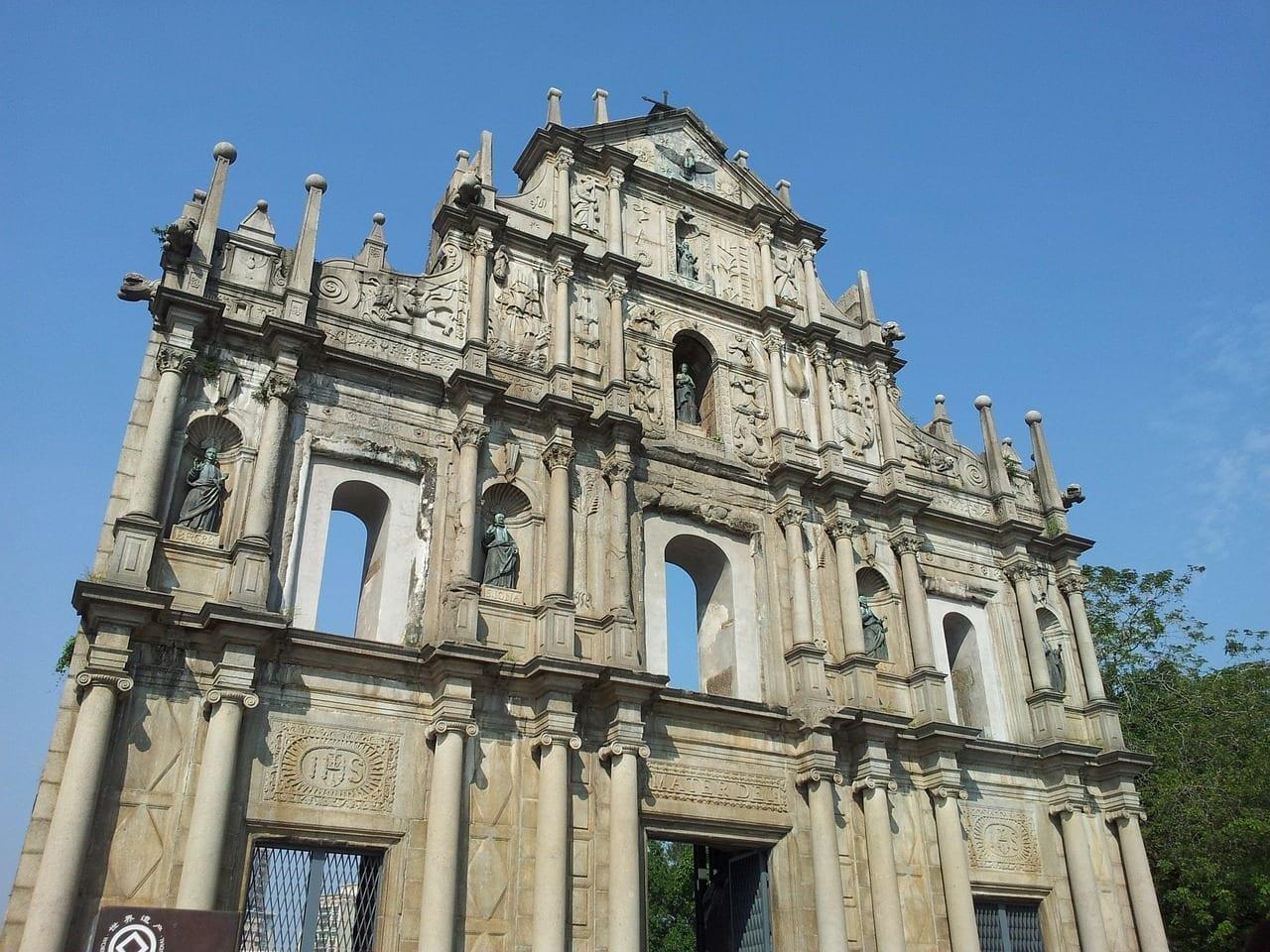 Macao Catedral Fachada Portugal