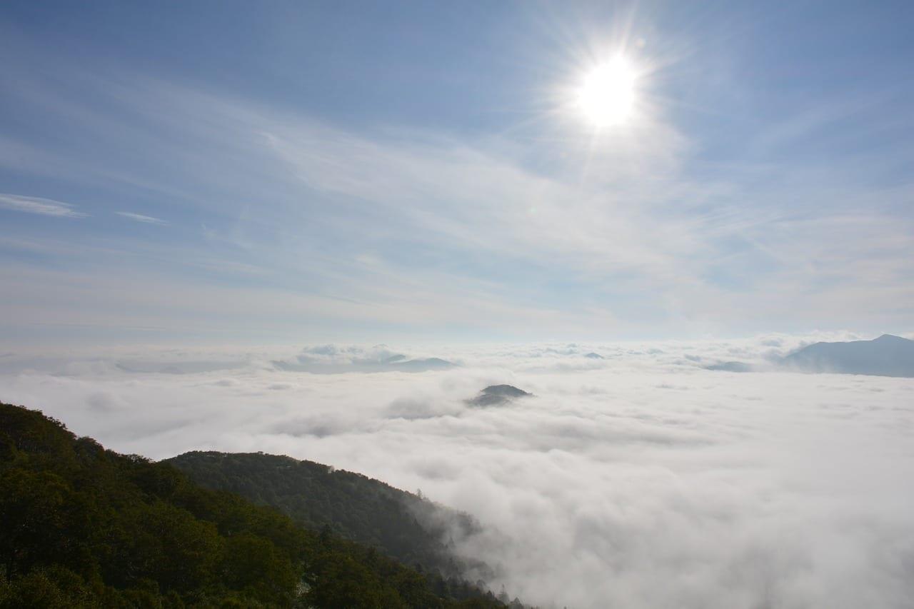 Mar De Nubes Terraza Hokkaido Japón