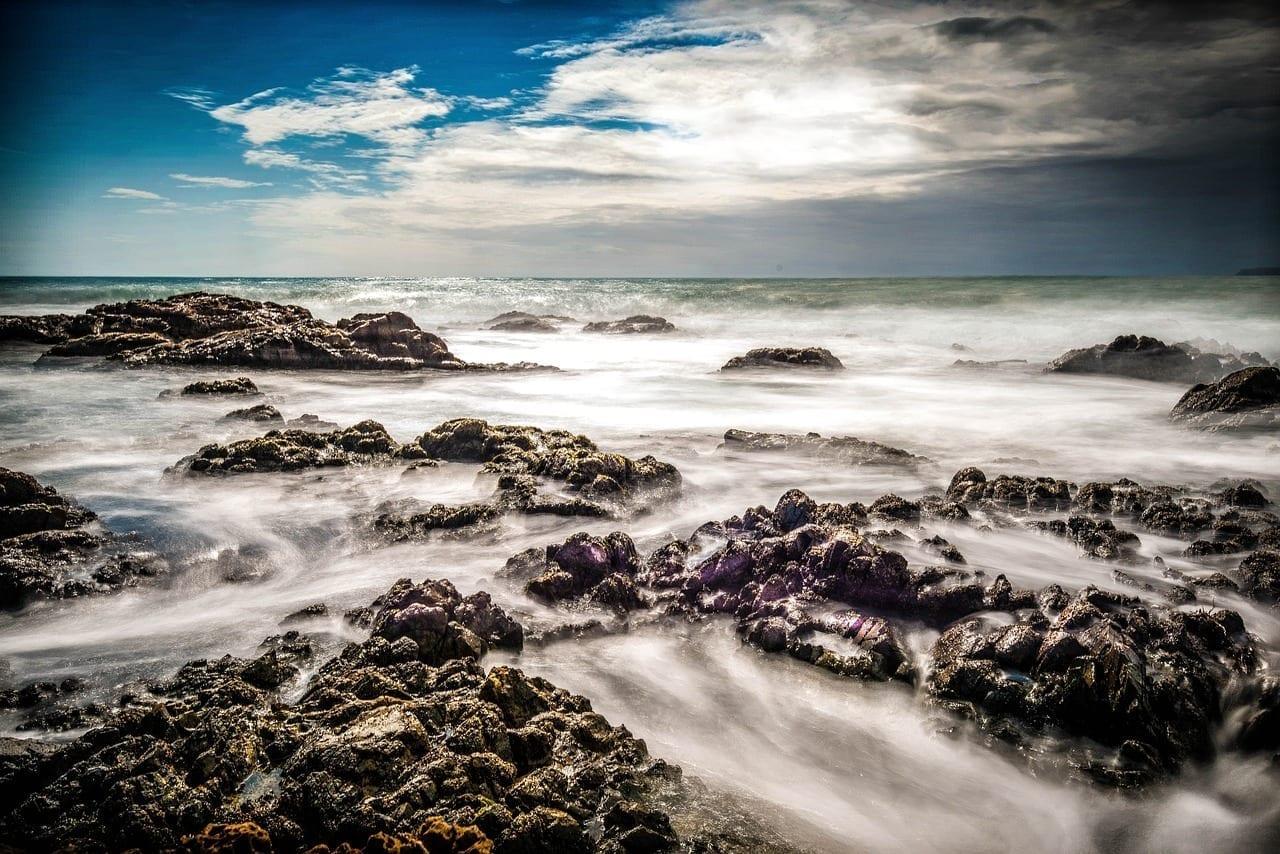 Mar En Calma Rocas Del Mar Wellington República de Sudáfrica