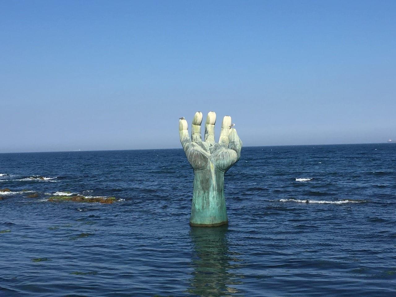 Mar Estatua Pohang Corea del Sur