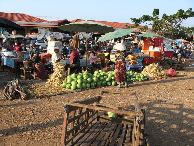 Mercado en Pakse Pakse República Democrática Popular Lao