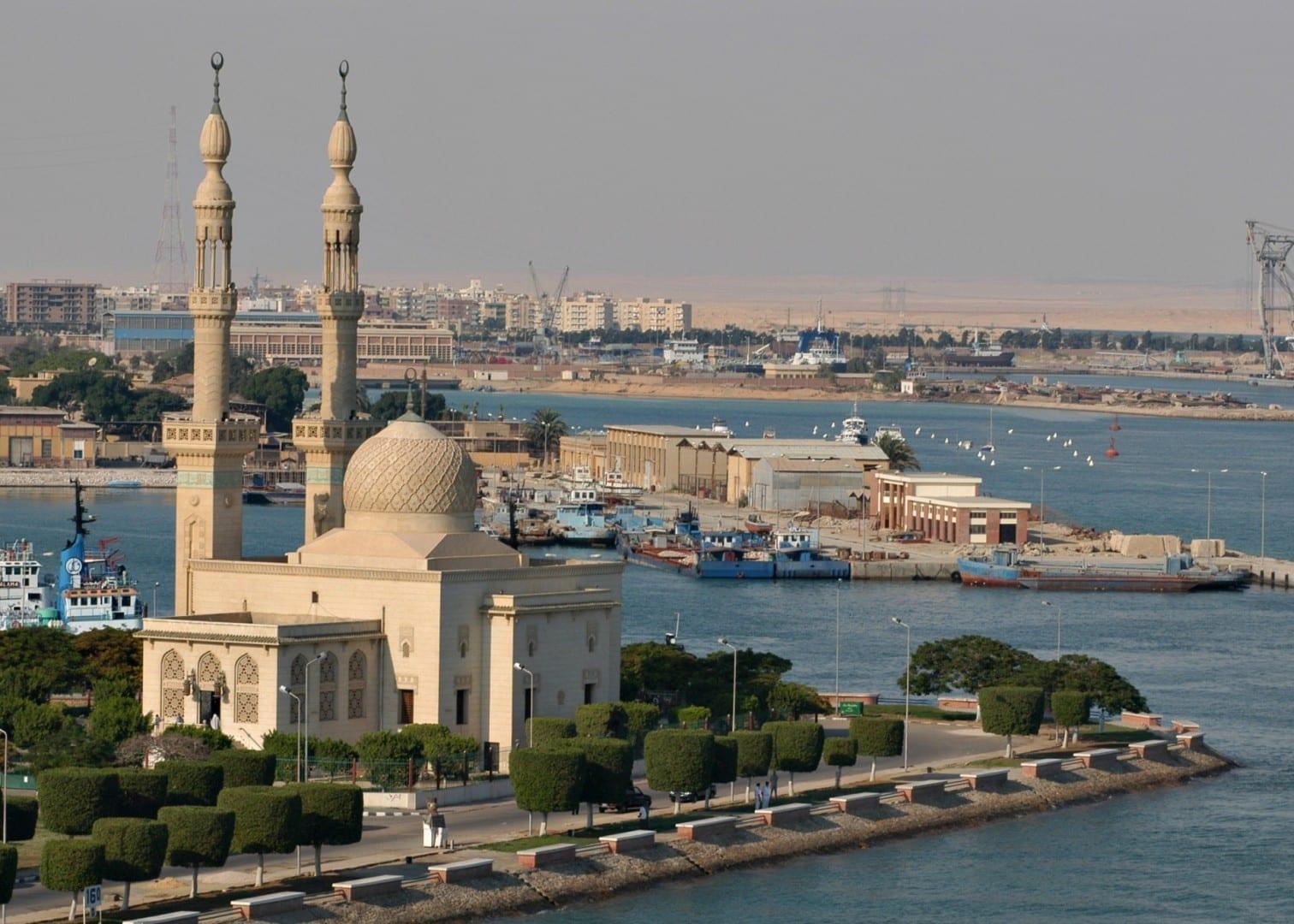 Mezquita en Port Said. Puerto Said Egipto
