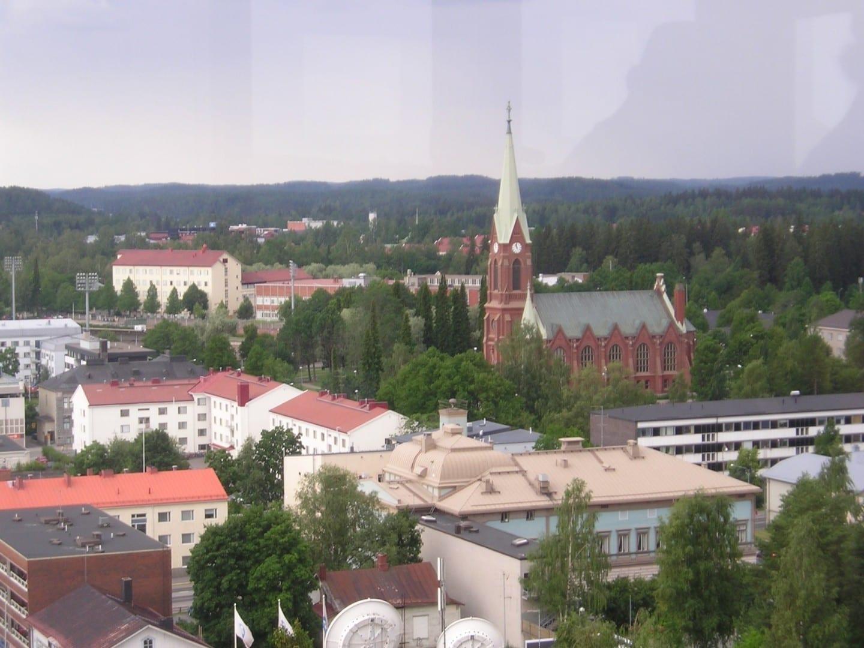 Mikkeli visto desde la torre de agua Mikkeli Finlandia