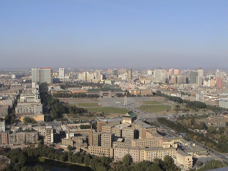 Mirando hacia la Plaza de la Cultura Changchun China