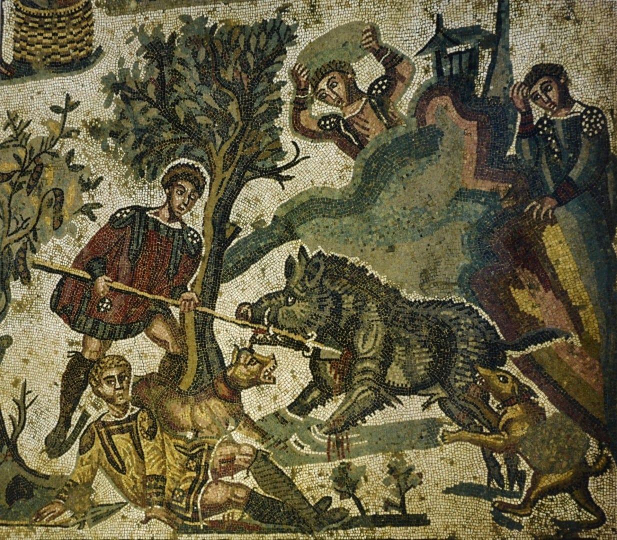 Mosaico de Little Hunt de la Villa Romana Piazza Armerina Italia