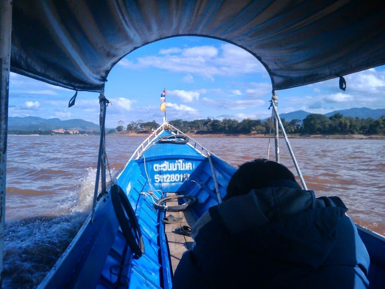 Navegación por el río Mekong Chiang Saen Tailandia
