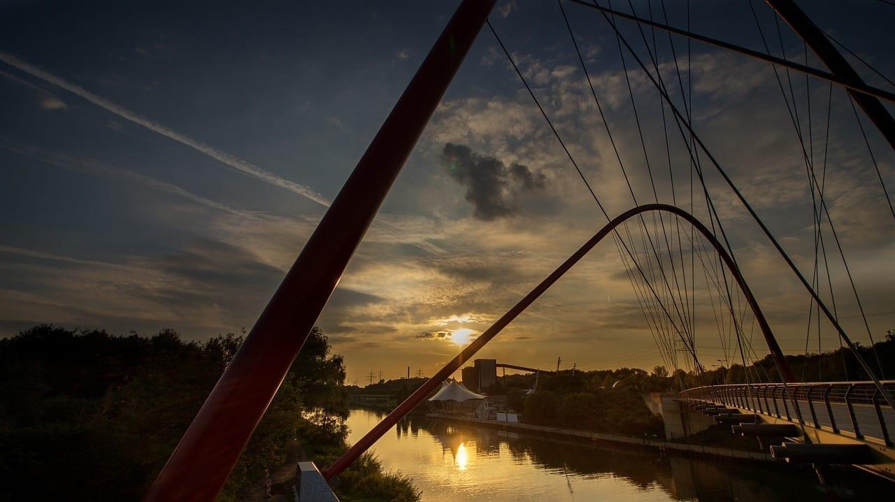 Nordsternpark Gelsenkirchen Rin Herne Canal Alemania