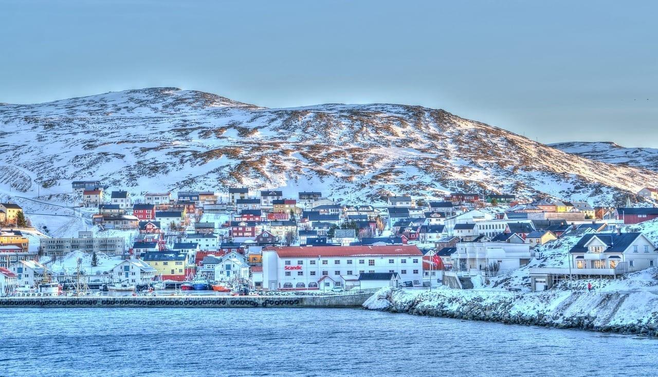 Noruega Costa Honningsvag Mar Noruega