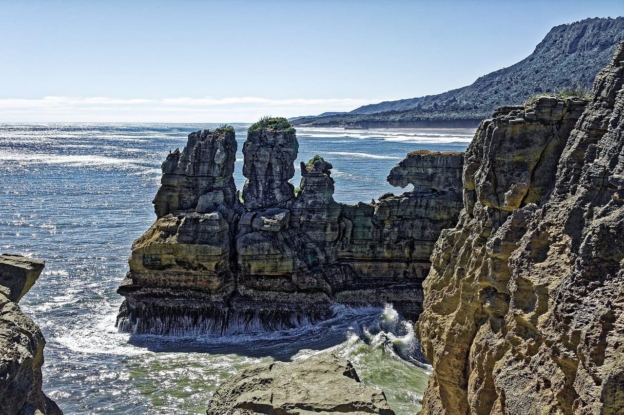 Nueva Zelanda Paparoa Parque Nacional De Punakaiki Pancake Rocks Nueva Zelanda