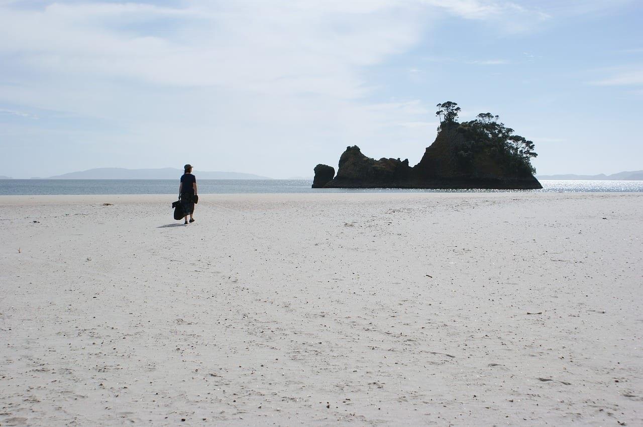Nueva Zelanda Playa Coromandel Nueva Zelanda