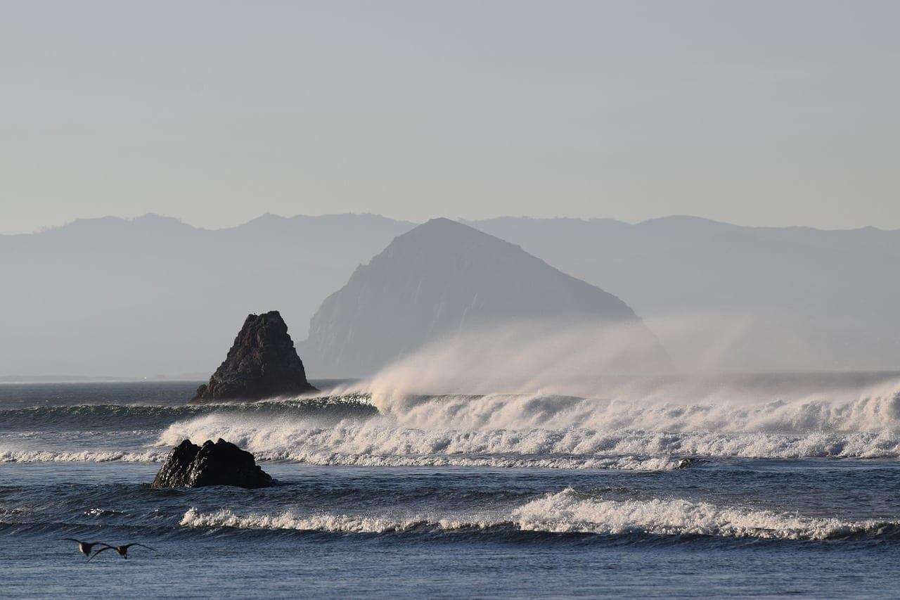 Océano San Luis Obispo Morro Rock Beach Argentina