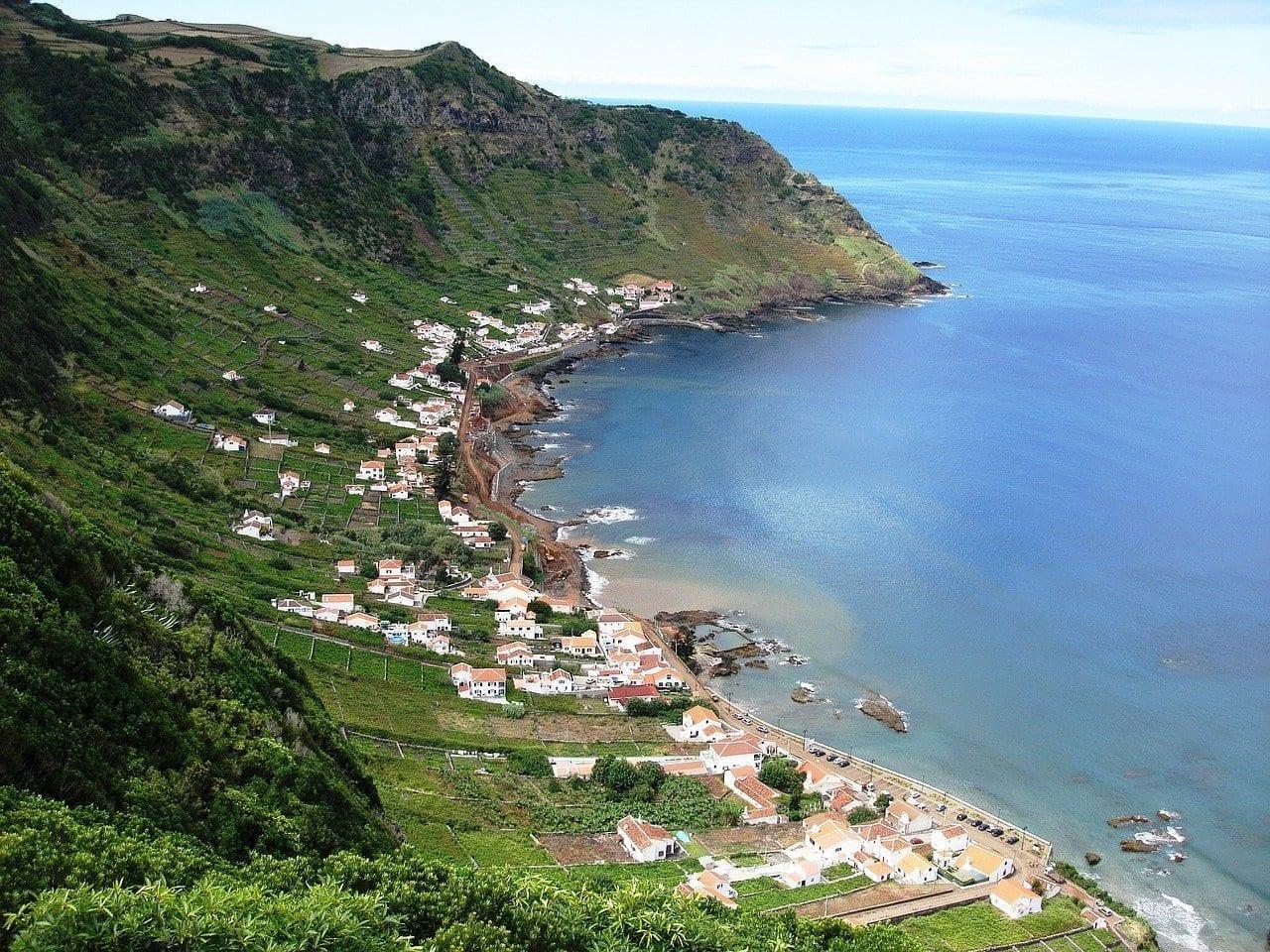 Paisaje Azores Mar Portugal