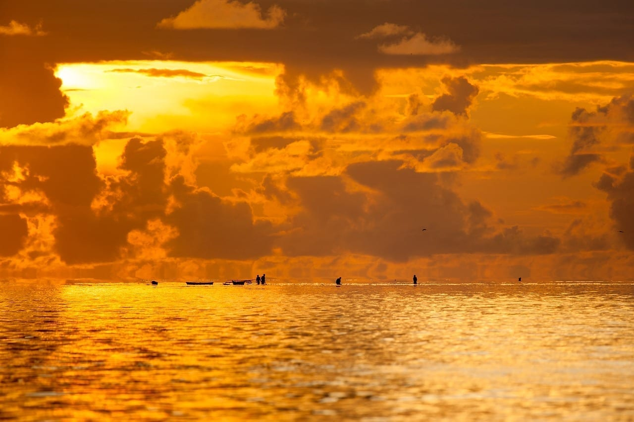 Paisaje Chaoyang Las Aguas Poco Profundas Del Mar China