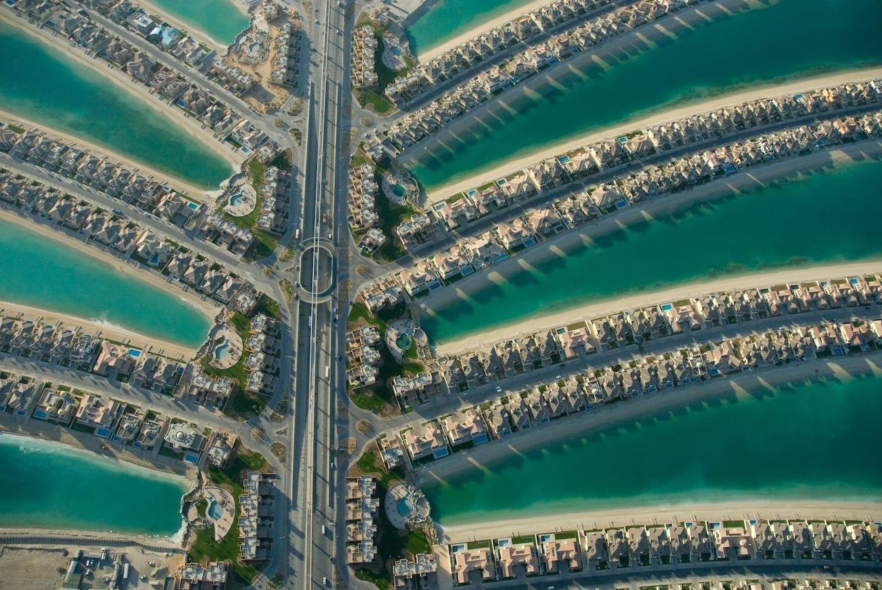 Palm Jumeirah desde arriba Jumeirah Beach Emiratos Árabes Unidos