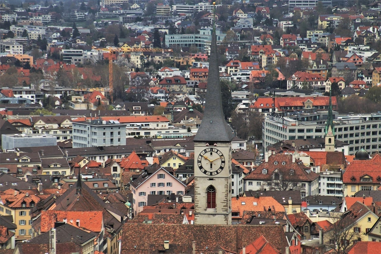 Panorama Chur Visión Lejana Suiza
