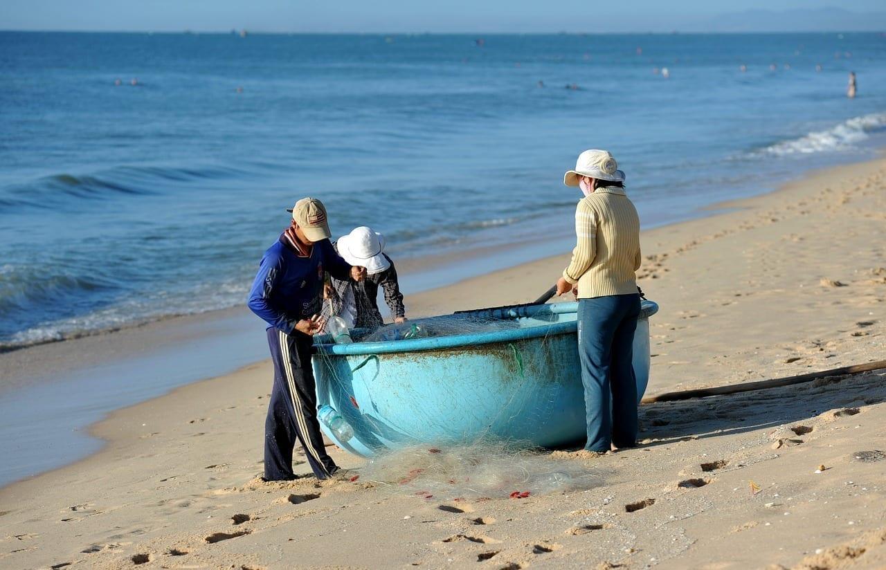 Pescadores Pescadores De Vietnam Mui Ne Vietnam