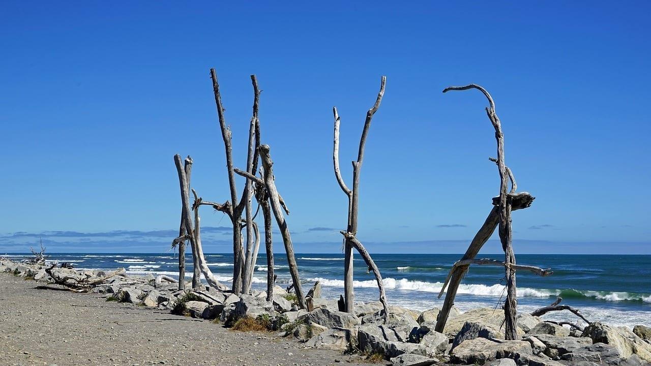 Playa Hokitika Costa Playa Nueva Zelanda