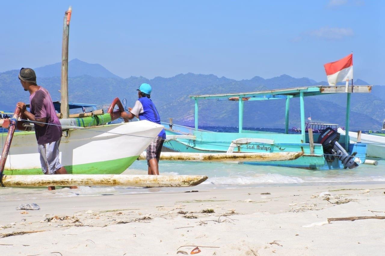 Playa Lombok Barco Indonesia