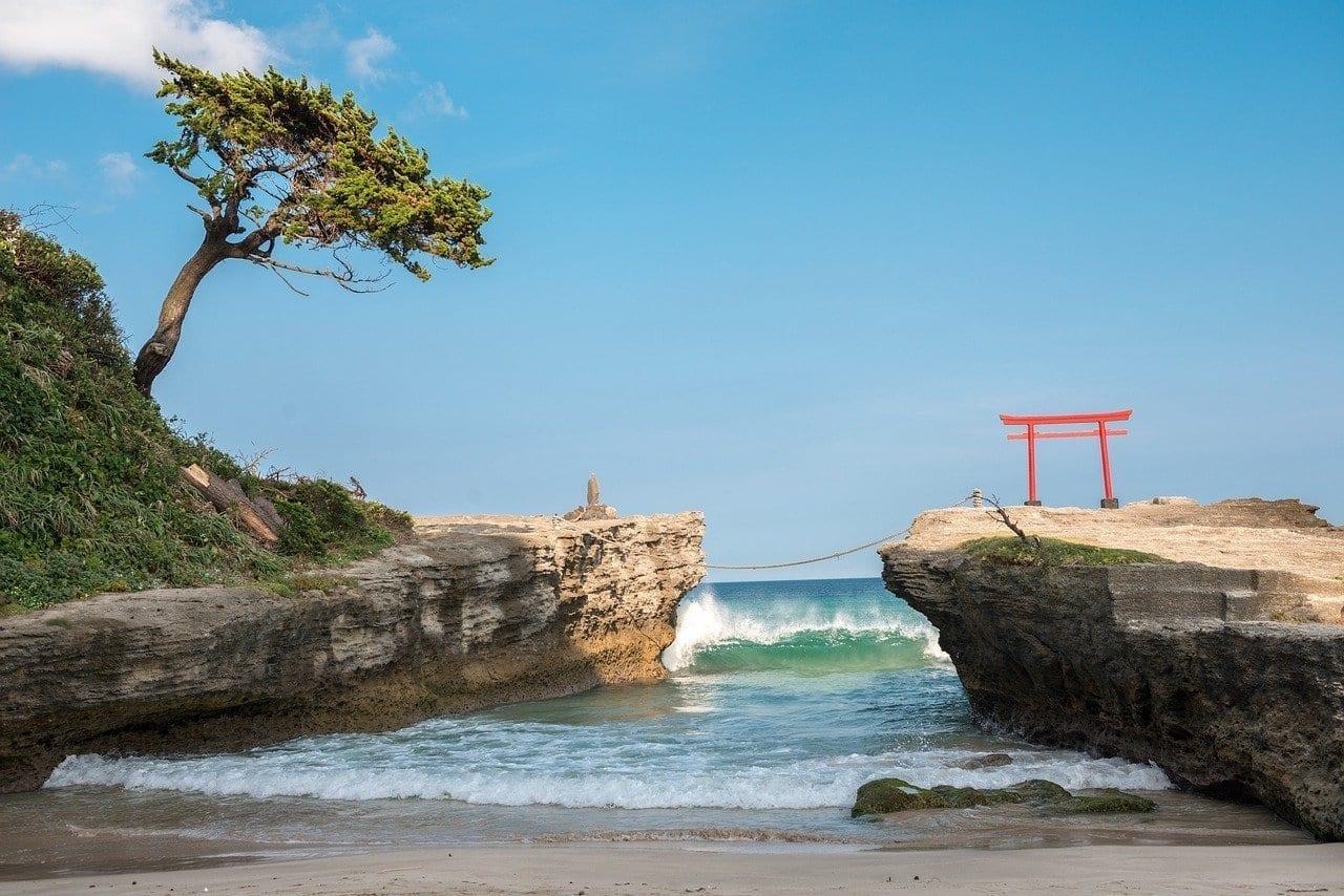 Playa Torii Izu Japón