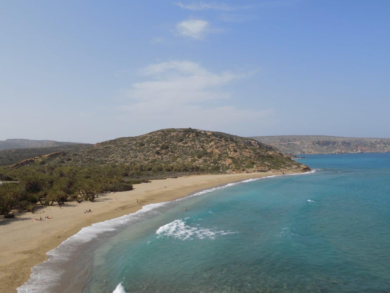 Playa y bosque de Vai en Sitia. Sitia Grecia