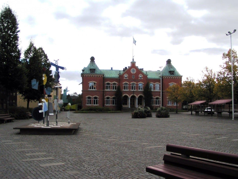 Plaza de la ciudad de Värnamo. Varnamo Suecia
