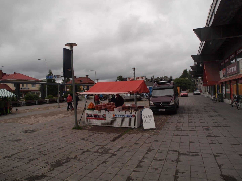 Plaza del mercado de Kuusamo Kuusamo Finlandia