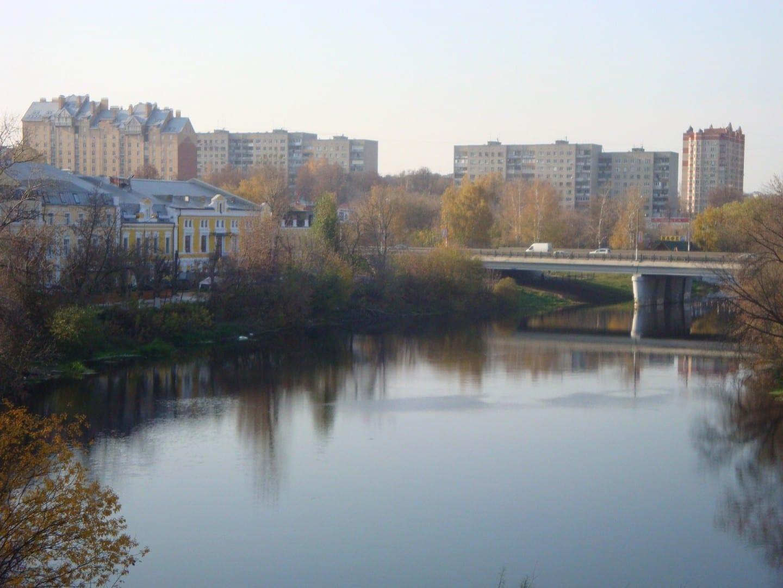 Podolsk y el río Pakhra Podolsk Rusia