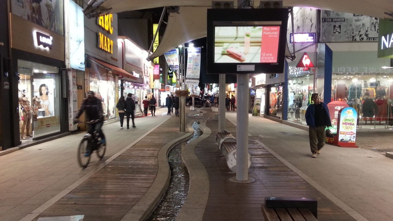 Pohang de noche Pohang Corea del Sur