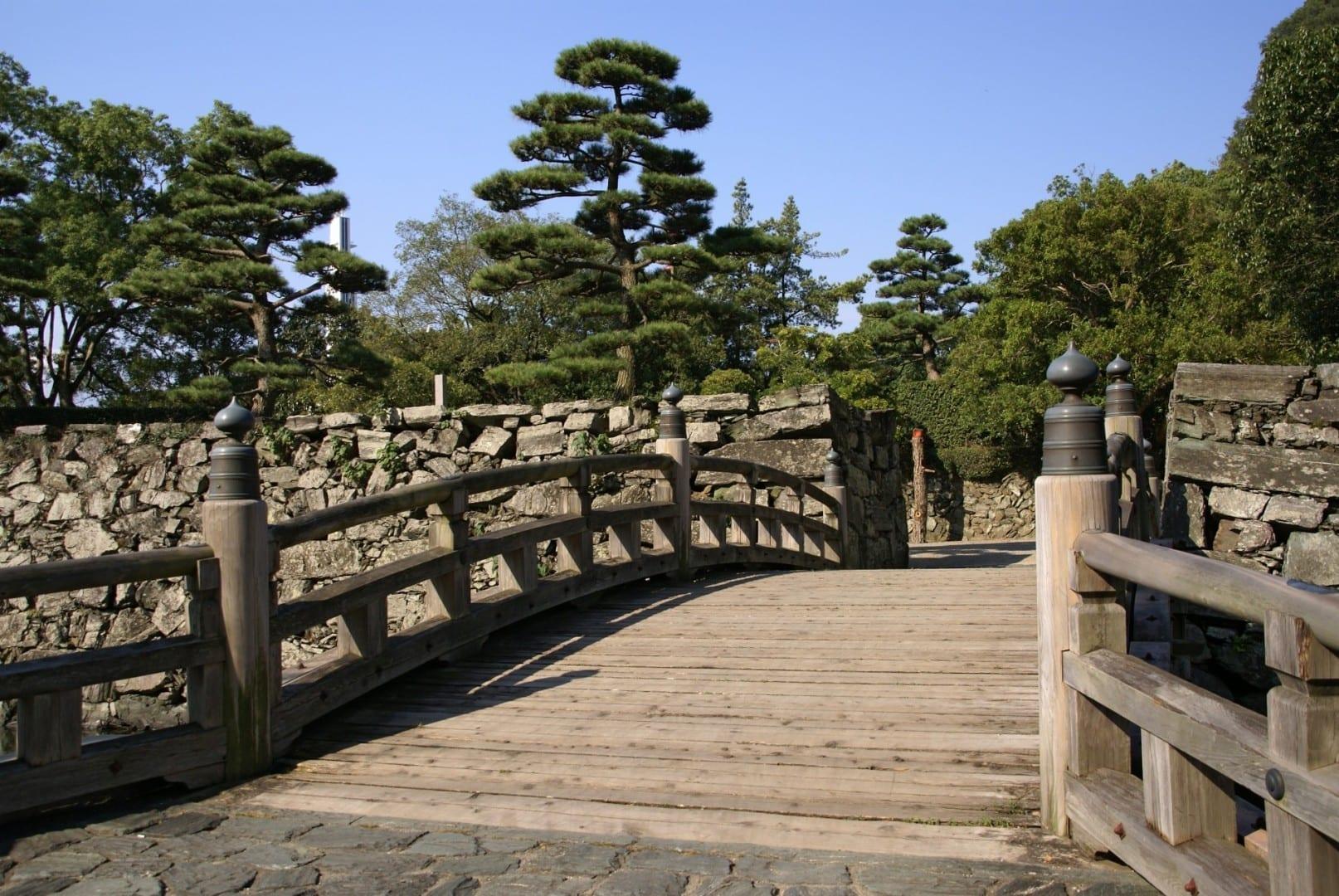 Puente al Castillo de Tokushima Tokushima Japón