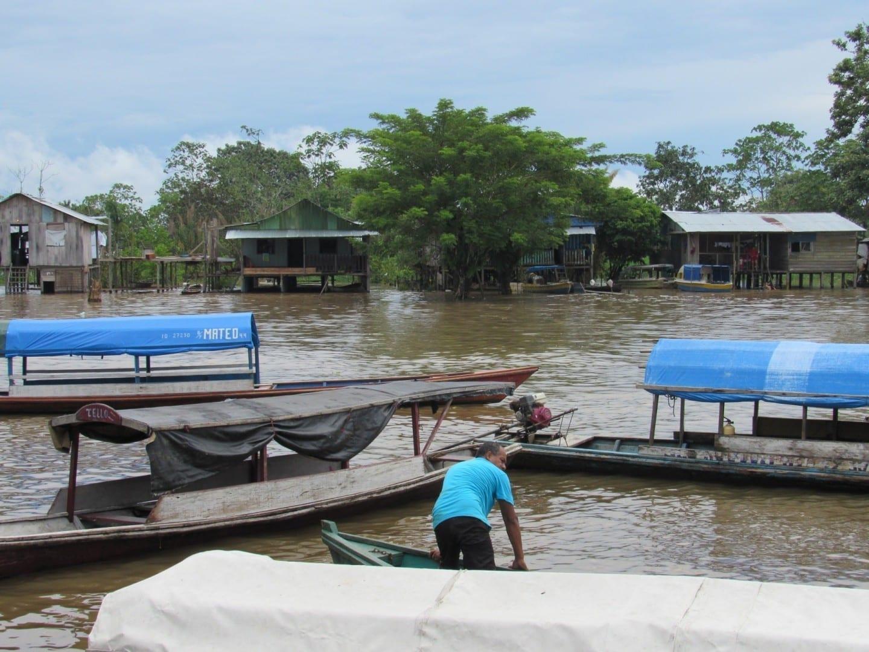 Puerto de Leticia en temporada de lluvias Leticia Colombia