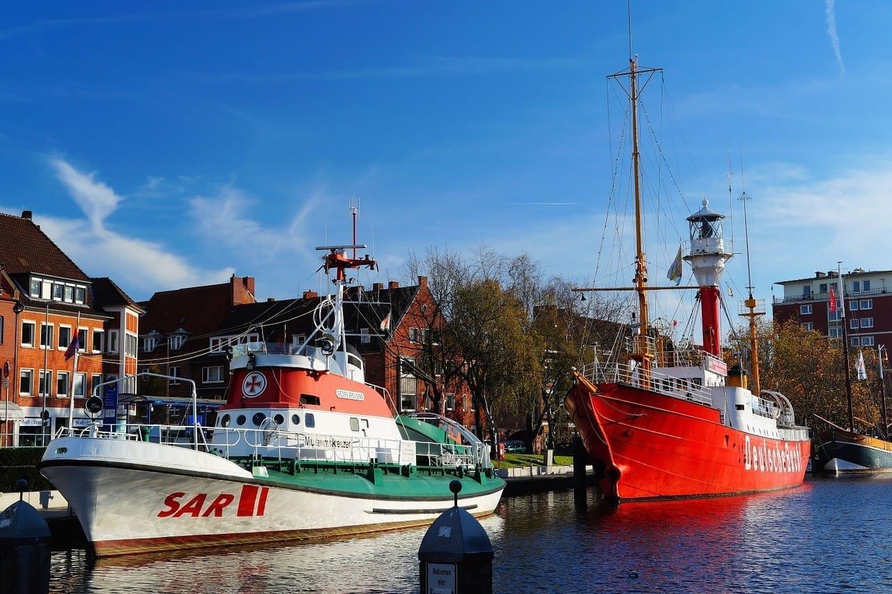 Puerto Emden De La Ciudad Alemania