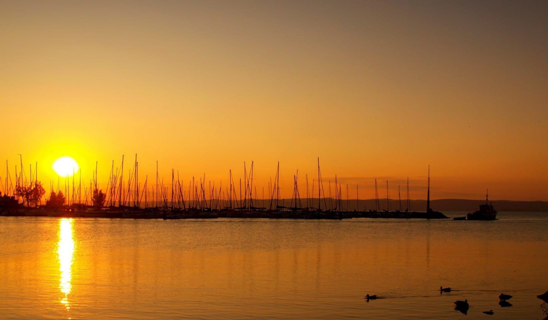 Puesta de sol de Siófok Siófok Hungría